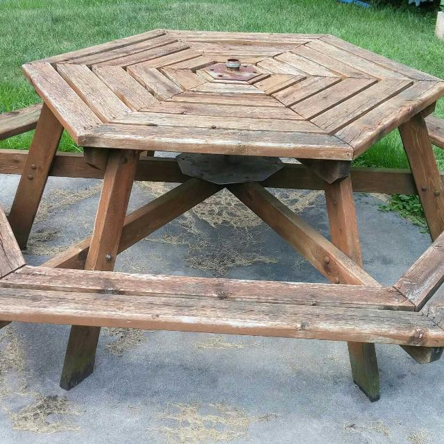 Find More Hexagon Picnic Table For Sale At Up To Off - Hexagon picnic table for sale