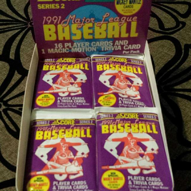 1991 Score Series 2 Baseball Cards Booster Box