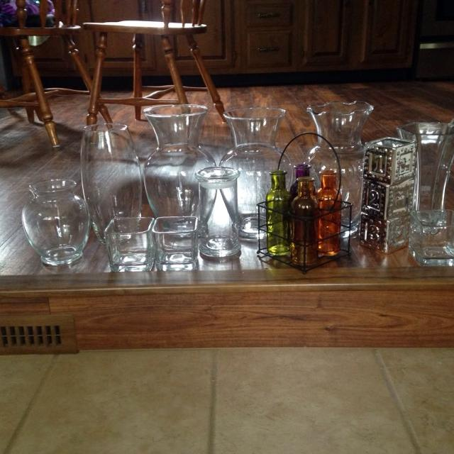 Find More 14 Assorted Glass Vasesjars For Sale At Up To 90 Off