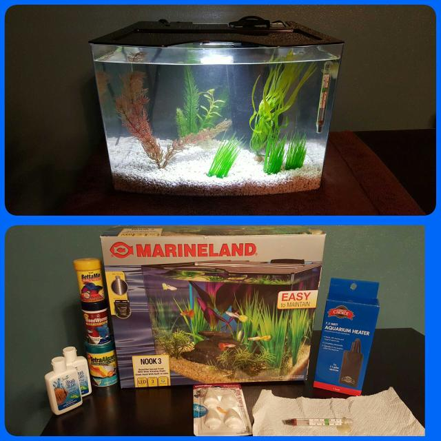 Marineland 3 Gallon Led Acrylic Fish Tank