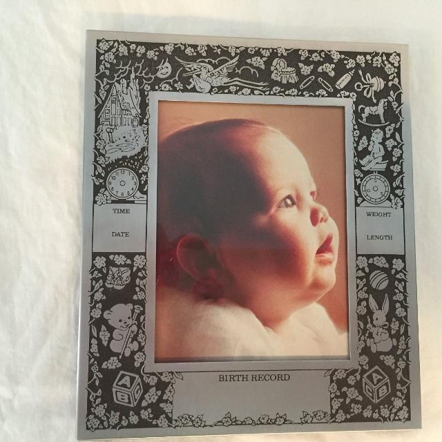 Find More M W Carr Engravable Baby Picture Frame For Sale At Up To
