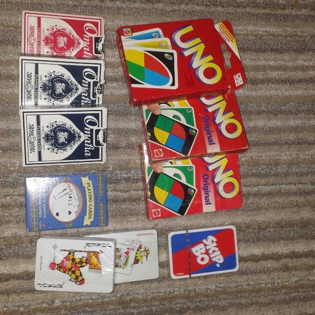 Find More 2 Uno Original 1 Skip Bo 6 Decks Of Playing Cards For Sale