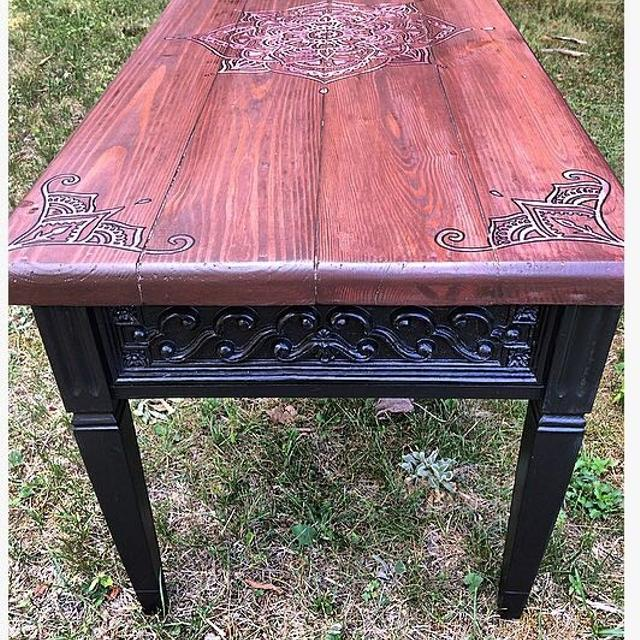 Refurbished One Of A Kind Coffee Table
