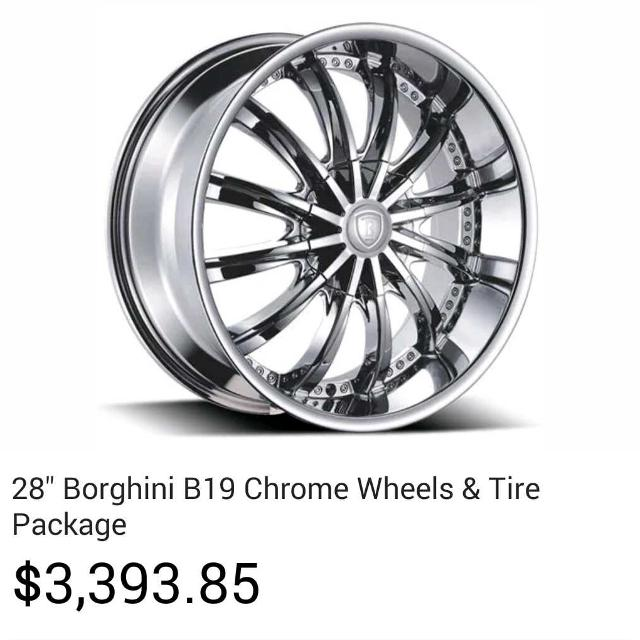 Best 28 Inch Rims And Tires Borghini B19 Chrome For 2 000 In Richmond Virginia 2019