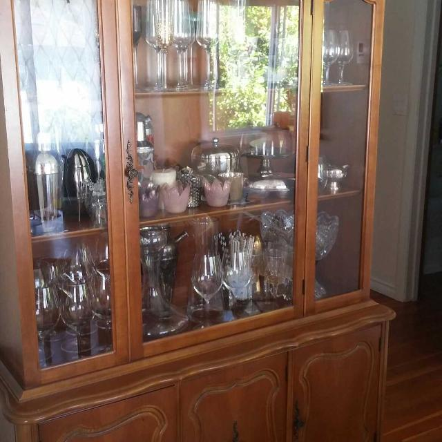 Find More Wood China Cabinet With Glassdoor And Storage On Bottom