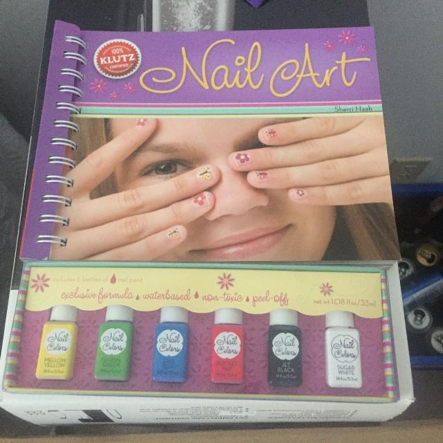 Best Girls Klutz Nail Art Kit With Water Based Non Toxic Peel Off