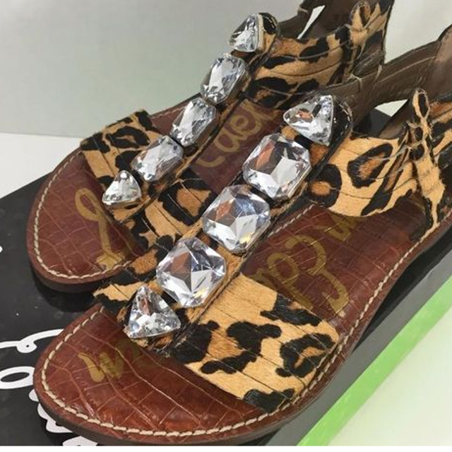 8e16655d7 Best Sam Edelman Galina Hair Calf Leopard Print Embellished Sandals Have  Size 7 And Size 13 for sale in Oshawa