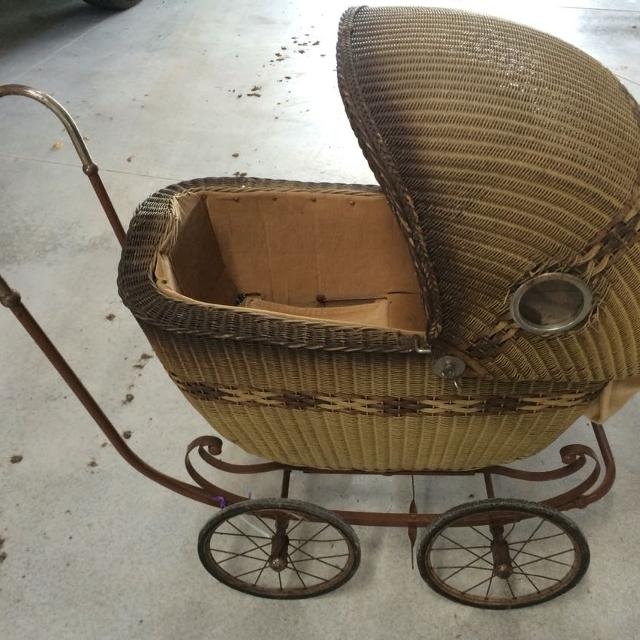 Best Vintage Wicker Baby Buggy With Gl Side Windows For In Waupun Wisconsin 2019