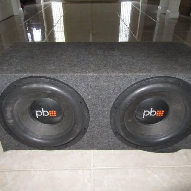 PowerBass PS-12 Speakers w/ Custom Speaker Box