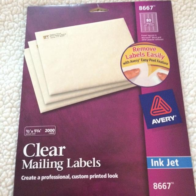 avery clear mailing labels sizes bahuma sticker