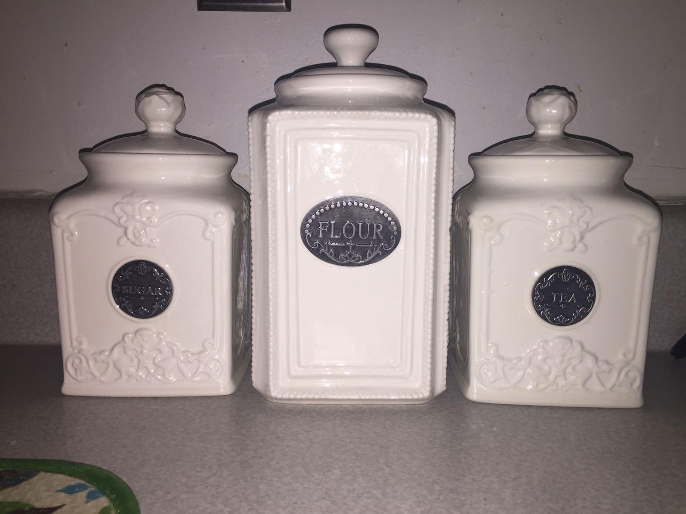 thl kitchen canisters find more thl off white ceramic canister set for sale at up to 90 off 4131