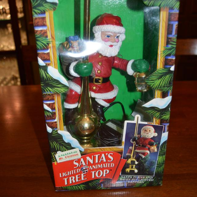 Find more 1994 Mr. Christmas Animated Santa Tree Topper for sale at ...