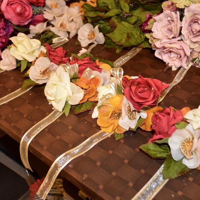 Floral Corsage Gajre Flower Bracelet Wedding Prom Florist