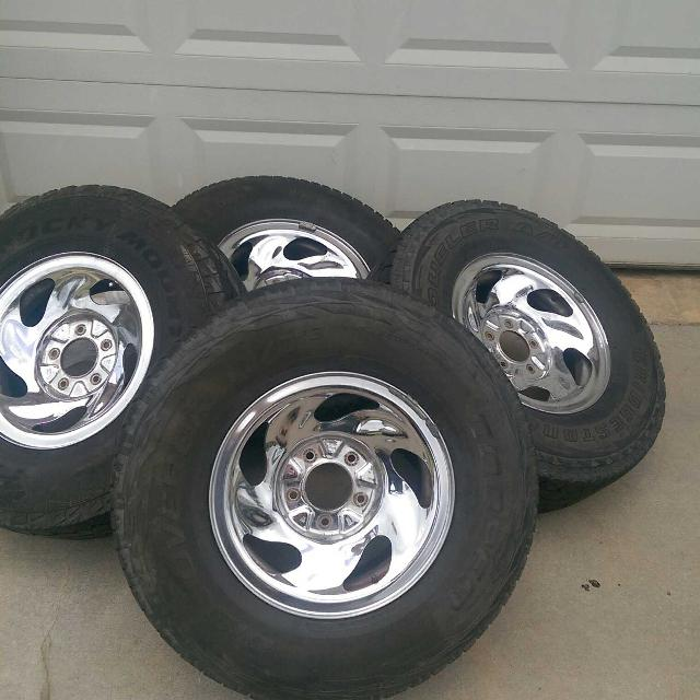 Truck Rims And Tires No Center Caps Mixed Matched Tires But All Same Size Used Condition But Still Has Tread Fits 97 03 Ford F150 125