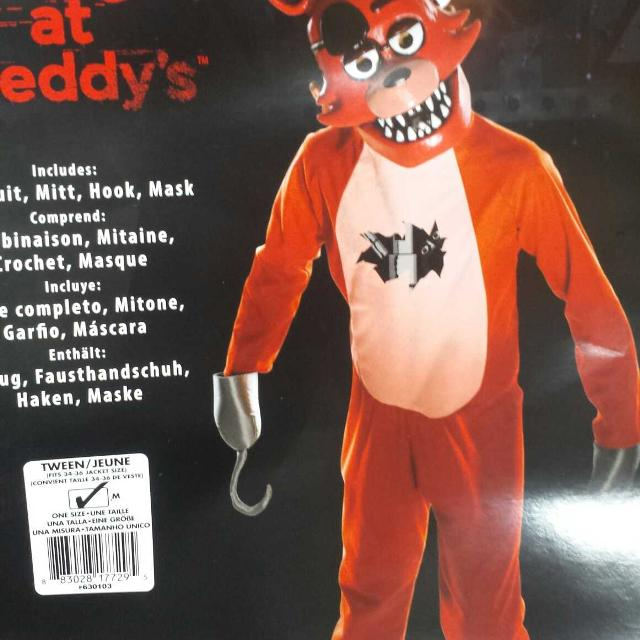 five nights at freddys foxy the pirate halloween costume
