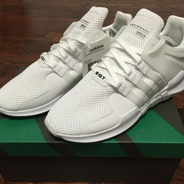 a696bd5f2431 Find more Adidas Eqt Support Adv Men 9us Triple White for sale at up ...