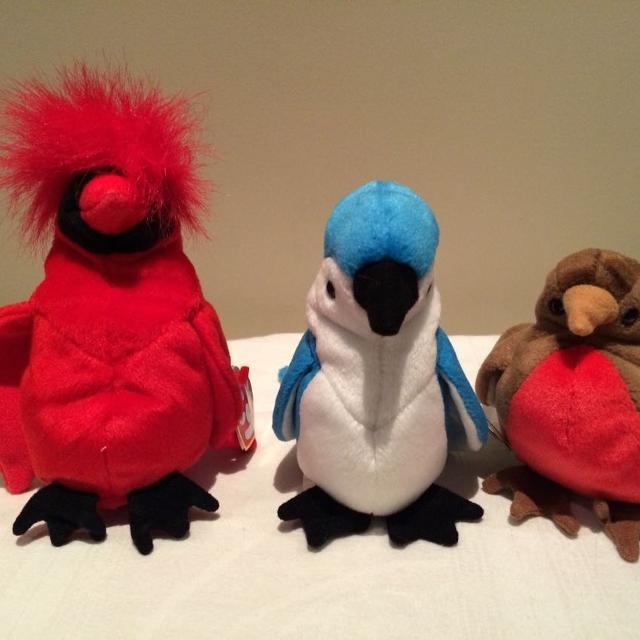 ce5bcaf0ad2 Find more 3 Euc Beanie Babies (cardinal