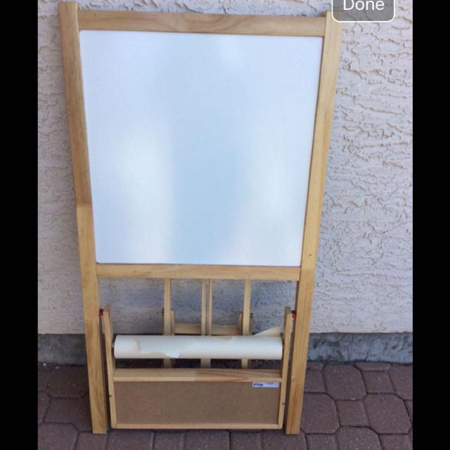 Find More Ikea Kids Art Easel Chalk Board With Paper Roll For Sale