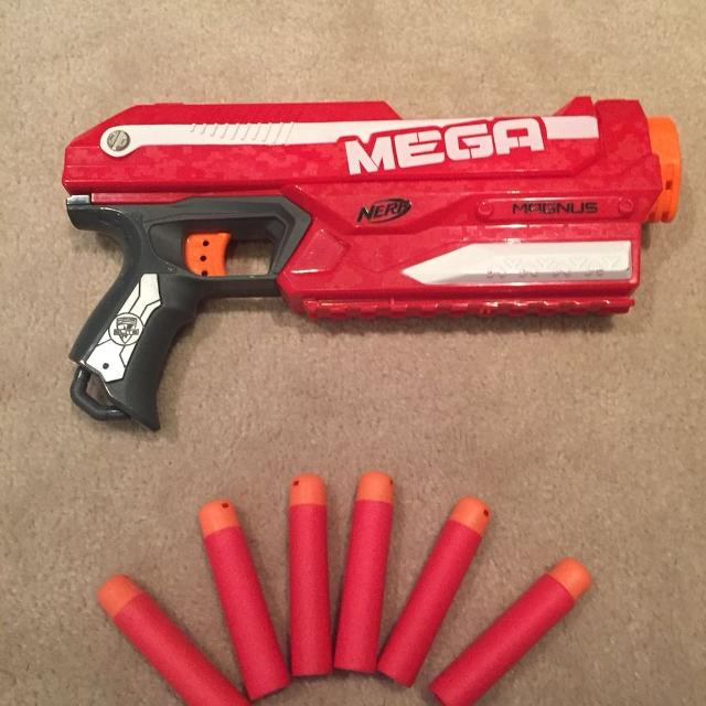 Finished my Magnus mods. Integrated 6 dart Mega clip and extra spring from  Stampede.