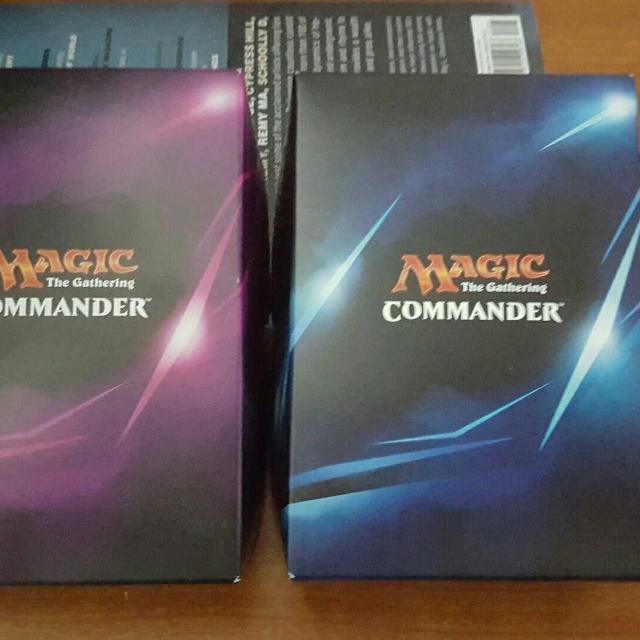2 magic the gathering mint condition commander decks