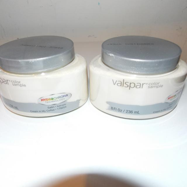 Find More 2 New Valspar 8 Oz Paint Samples Creamy Color Cream In My
