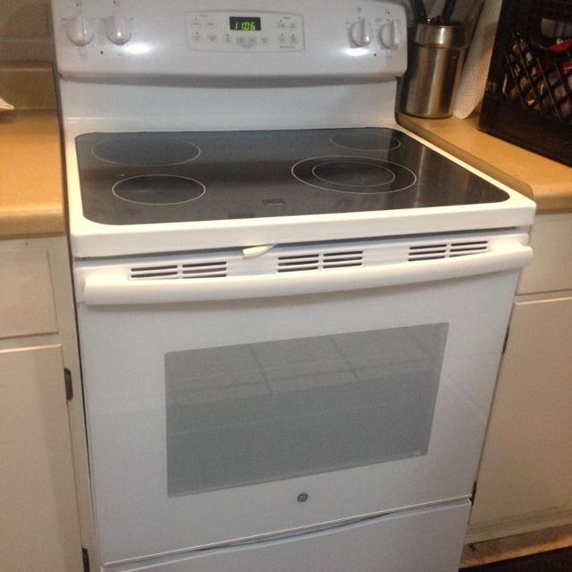 Flat Top Stove ~ Find more brand new white ge flat top stove only used a