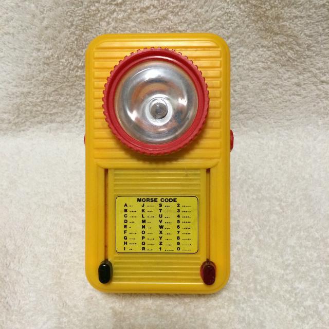 Vintage Morse Code 2 Colors Flashlight