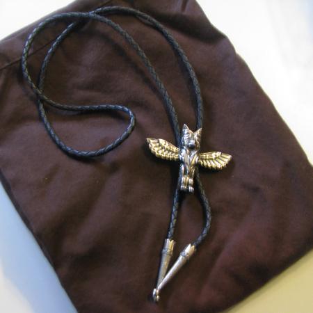 Owl/Eagle totem pole Bolo tie for sale  Canada