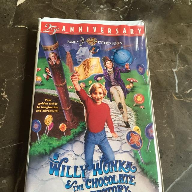 best willie wonka and choc factory vhs tape 3 for sale in
