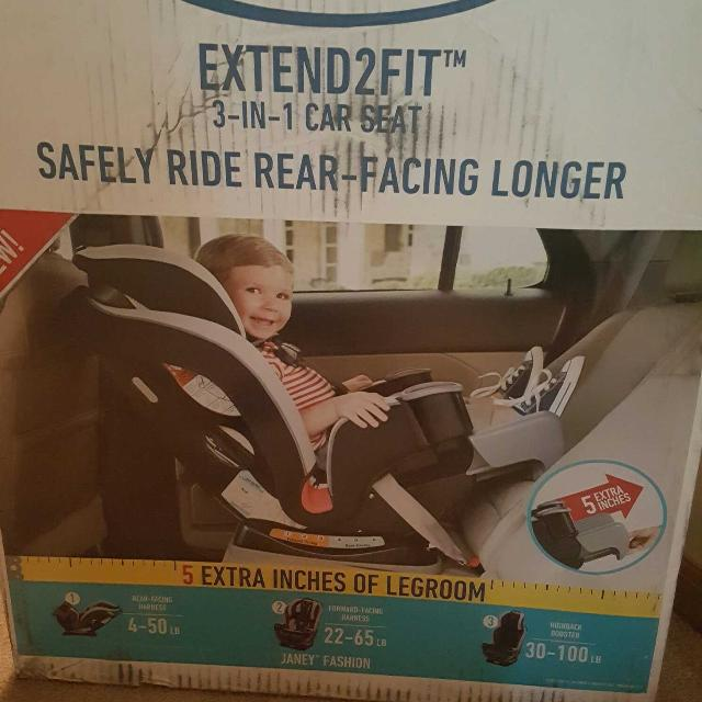 Graco Extend2fit 3 In 1 Car Seat Never Opened