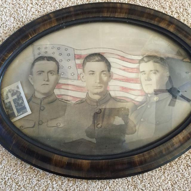 Find More World War I Militaria Oval Tiger Maple Frame With Bubble