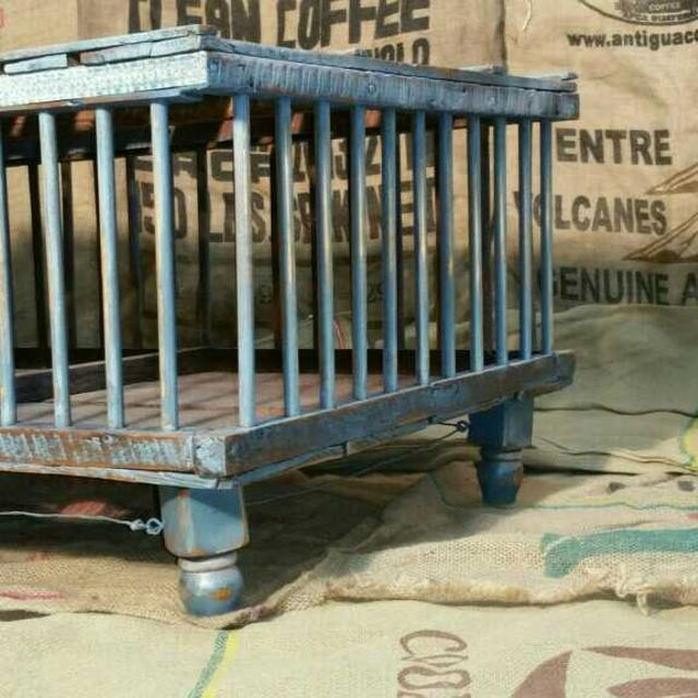 Best Antique Chicken Crate Coffee Table For Sale In