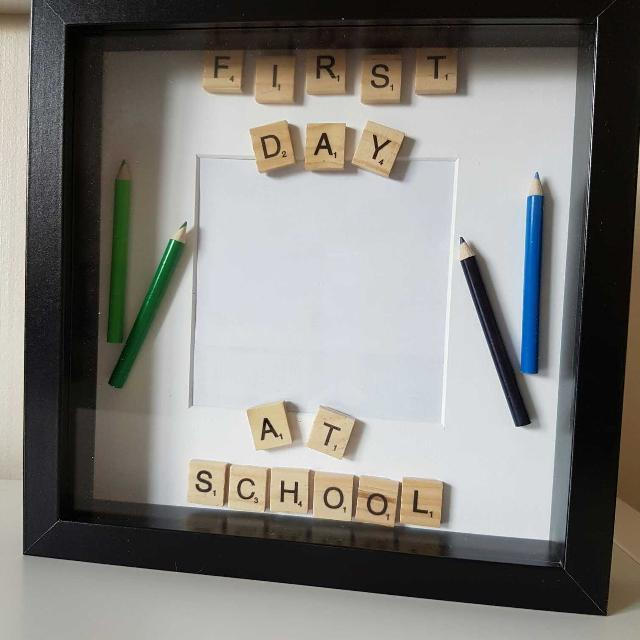 Find more First Day Of School Scrabble Box Frame for sale at up to ...