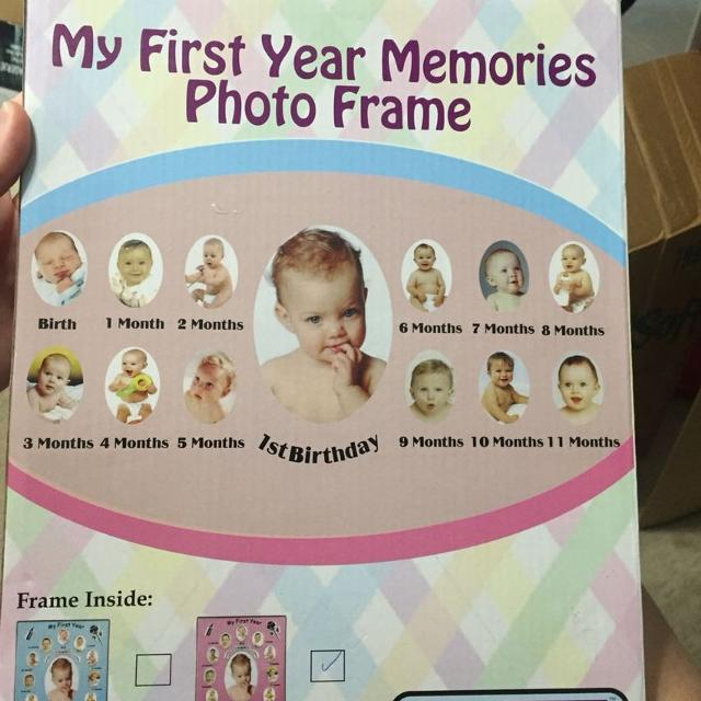 Find more Baby\'s 1st Year Frame (pink) for sale at up to 90% off