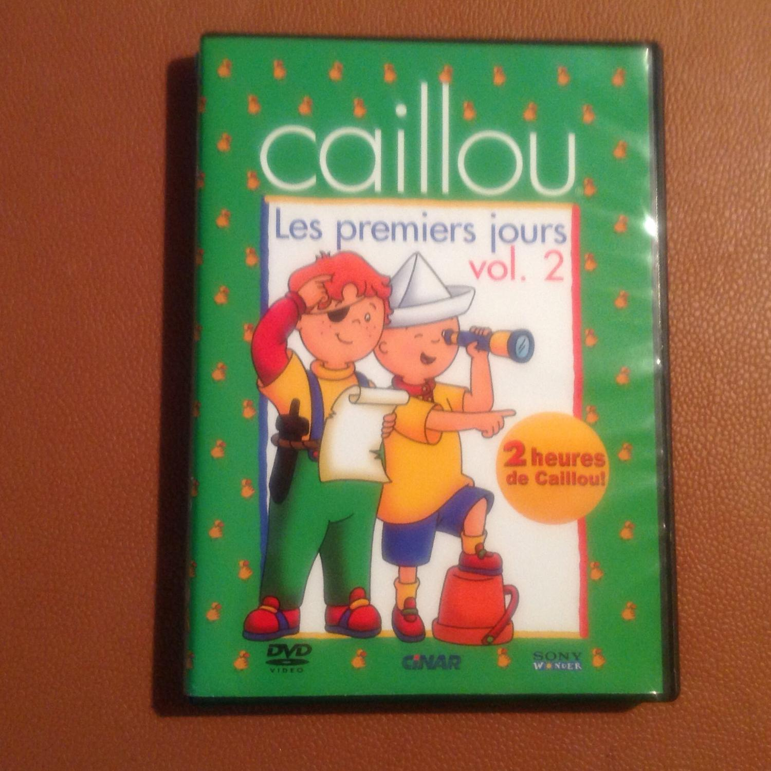 Find more dvd caillou les premiers jours vol 2 french for Caillou francais piscine