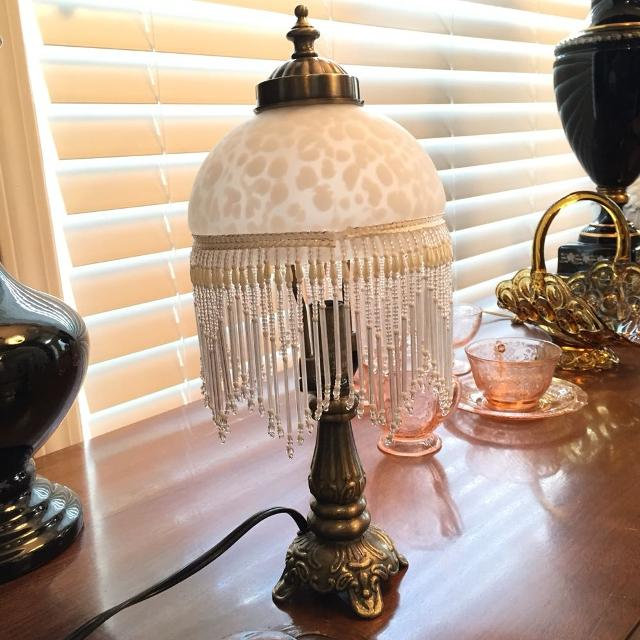 Find more brand new stratford collection ornate victorian boudoir brand new stratford collection ornate victorian boudoir lamp glass shade with glass beaded fringe mozeypictures Gallery