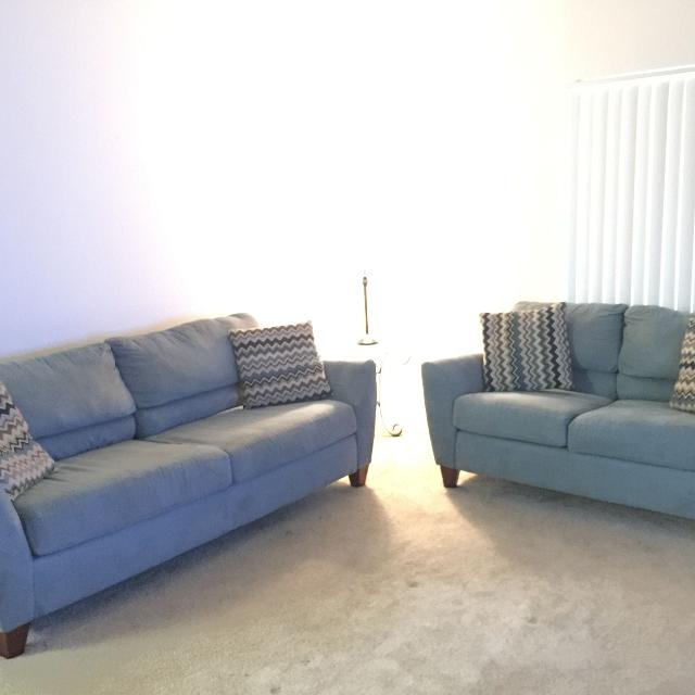 Best Blue Microfiber Sofa And Loveseat For In Hollywood Florida 2019