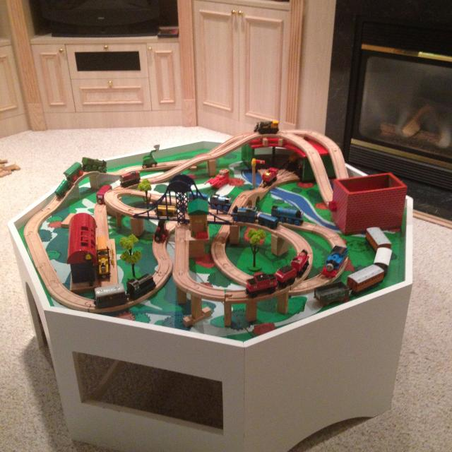 Find more Large Thomas Train Table Set With Accessories for sale at ...