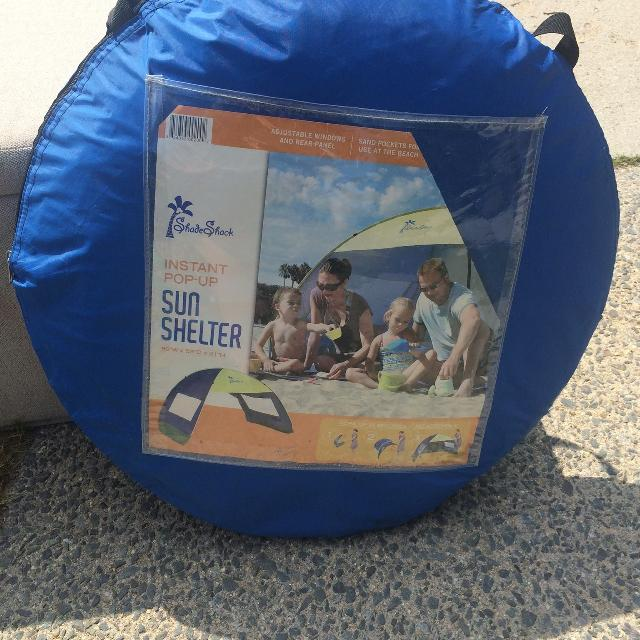 pretty nice afb9b ef793 Shade Shack Instant Pop Up Family Beach Tent and Sun Shelter