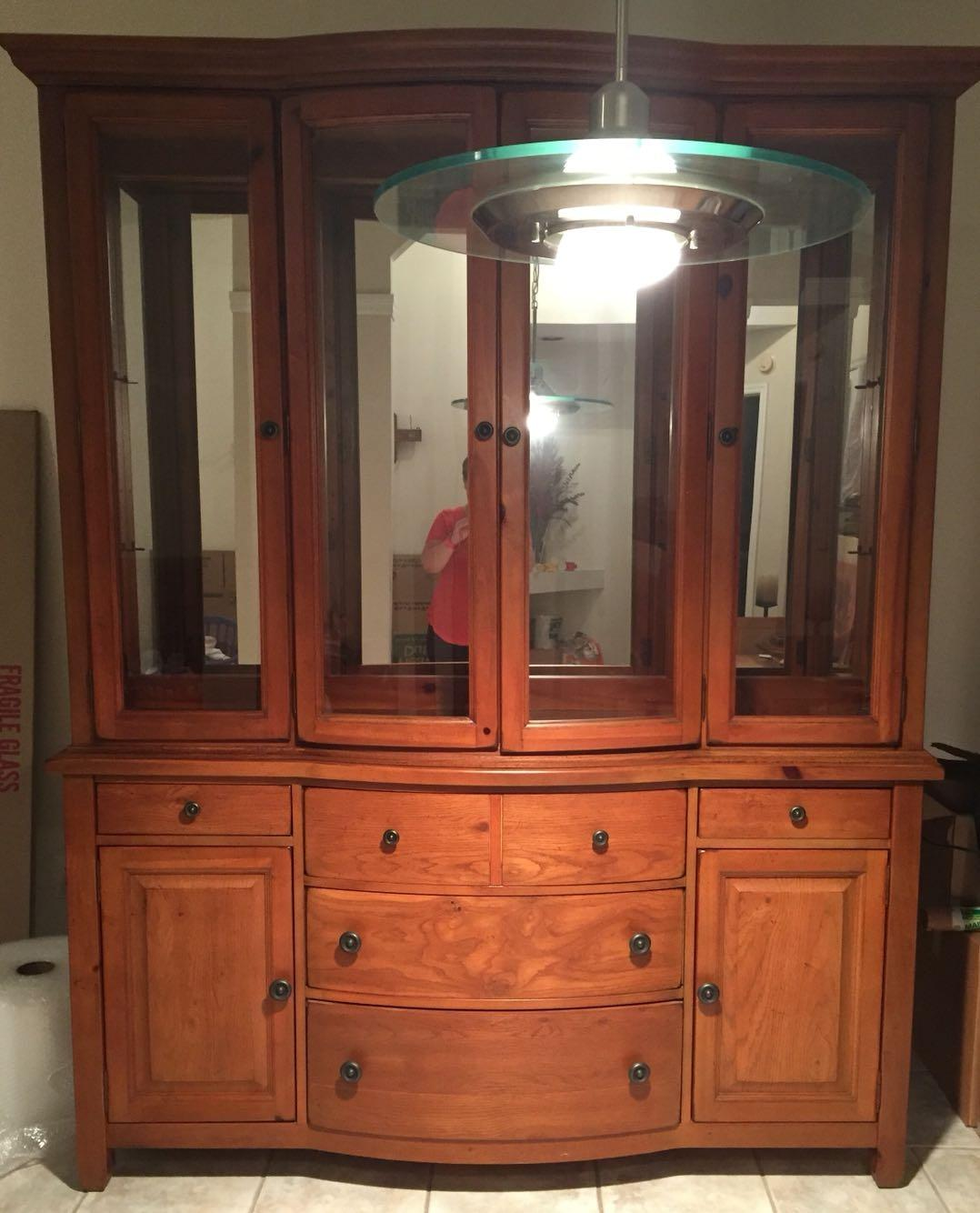 Used Kitchen Cabinets Tampa: Best Broyhill Continental Tapestry China Cabinet For Sale