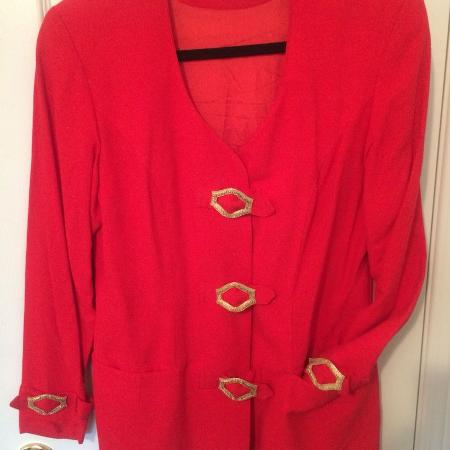 Vintage | Red Blazer with Gold... for sale  Canada