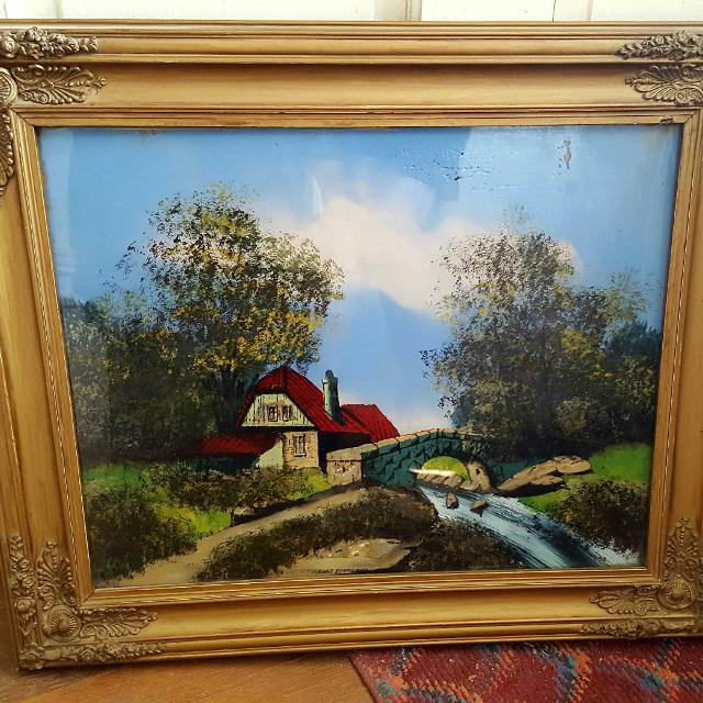 Best Antique Reverse Glass Painting For Sale In Brockton