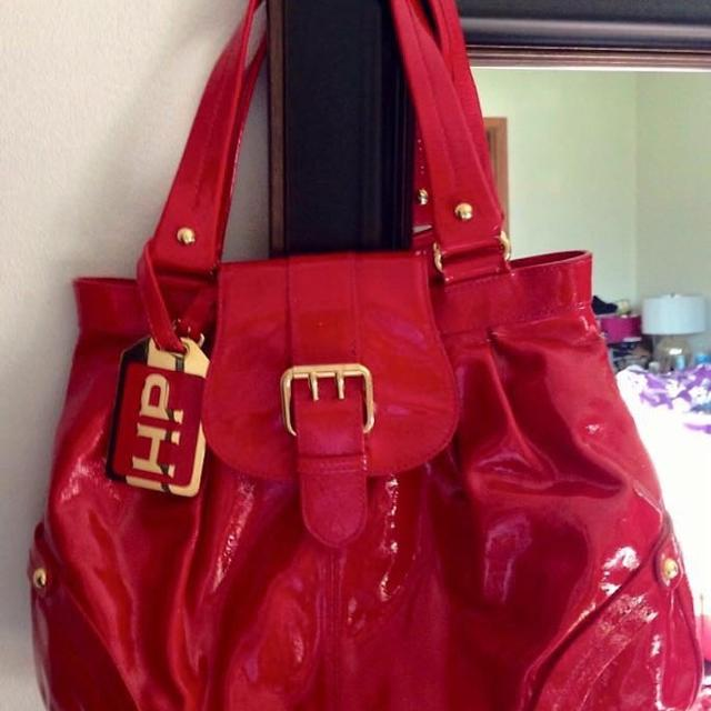 Limited Edition Dooney Bourke Hayden Panettiere Red Patent Leather Handbag W