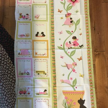 Baby Girl Quilt Panel for sale  Canada
