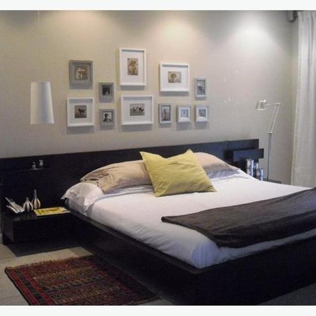 ikea malm queen bed frame with floating side tables - Ikea Queen Bed Frame