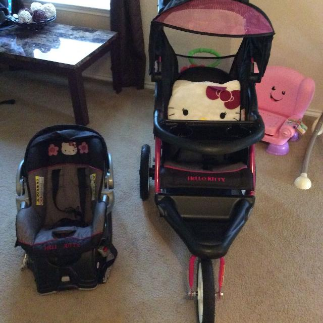 Baby Trend Hello Kitty Stroller And Car Seat Bundle REDUCED POMS