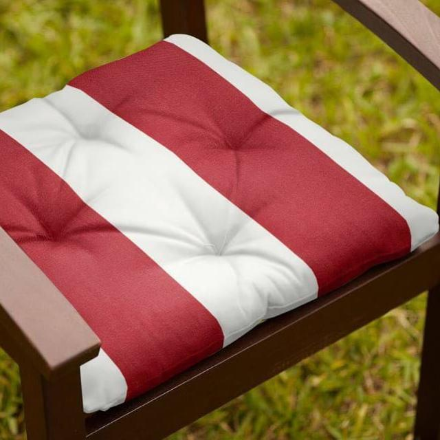 Find More 4 Pottery Barn Sunbrella Outdoor Chair Cushions Red Stripe