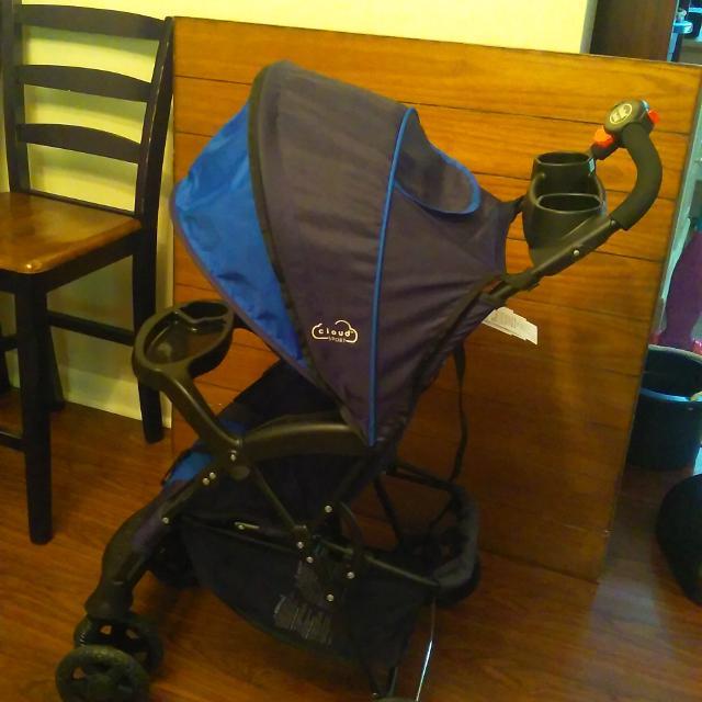 Reduced Excellent Kolcraft Cloud Sport Lightweight Stroller Cobalt Blue