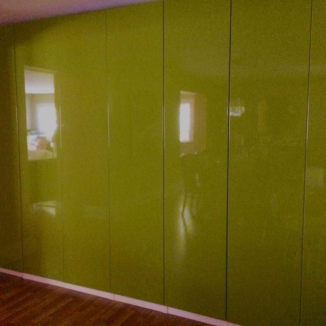 new arrival 65824 2218e Pax Wardrobe Fardal High-Gloss Green Doors