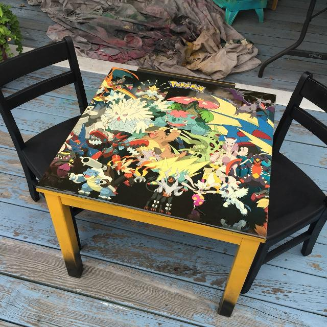 Find More Pokemon Kids Table And Chairs For Sale At Up To